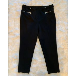 CALVIN KLEIN Black Slim Leg Dress Pants